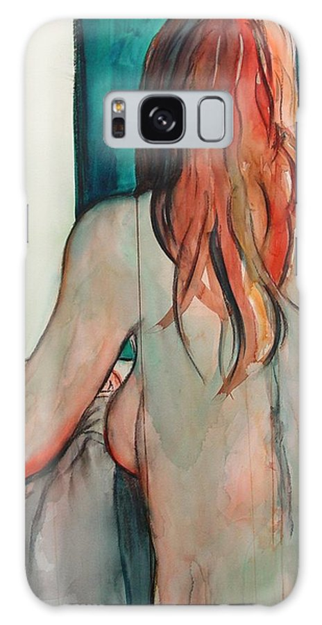 Nude Galaxy Case featuring the painting Back View by Marlene Gremillion