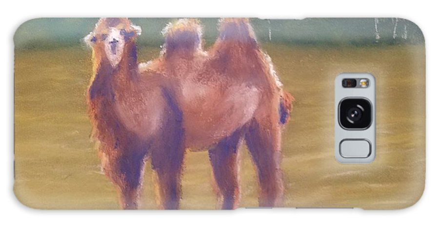Camel Galaxy Case featuring the painting Backlit Bactrian by Sharon E Allen