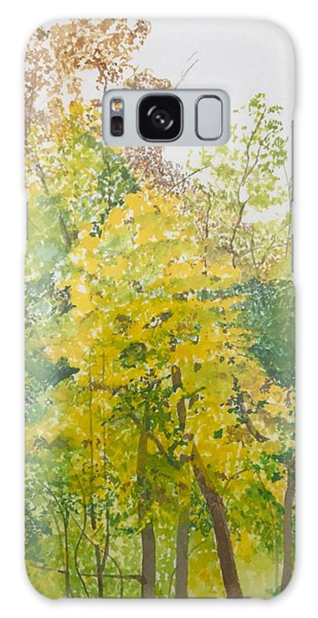 Autumn Galaxy S8 Case featuring the painting Backyard by Leah Tomaino
