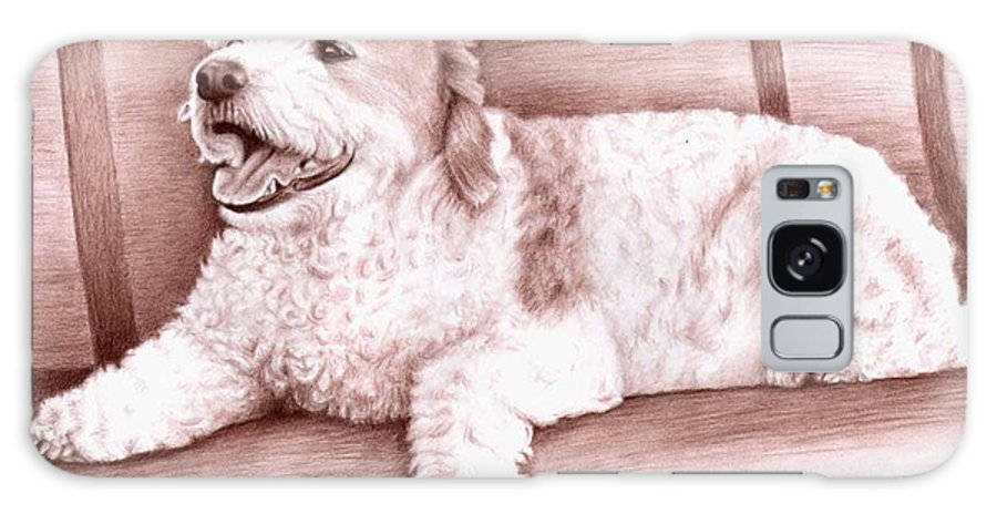 Dog Galaxy S8 Case featuring the drawing Baco by Nicole Zeug