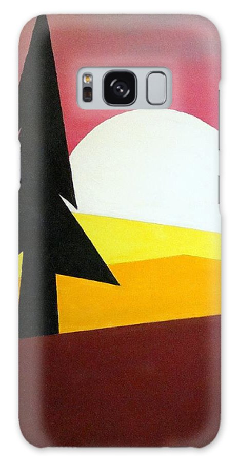 Phases Of The Moon Galaxy Case featuring the painting Bad Moon Rising by J R Seymour