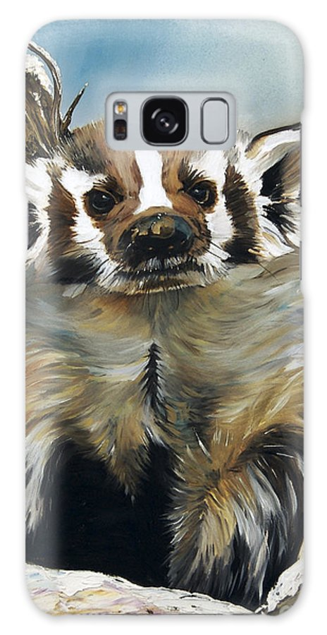 Southwest Art Galaxy S8 Case featuring the painting Badger - Guardian Of The South by J W Baker