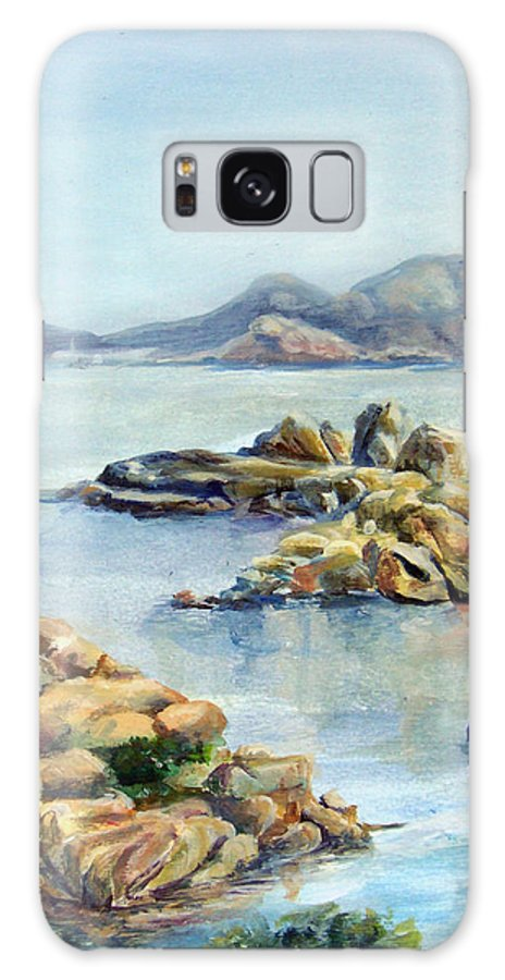 Landscape Galaxy Case featuring the painting Baie by Muriel Dolemieux