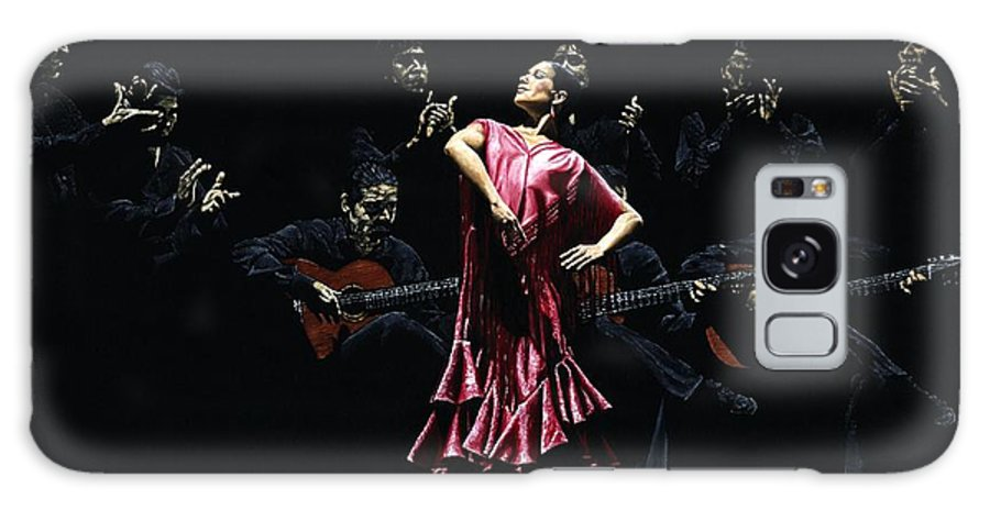 Flamenco Galaxy Case featuring the painting Bailarina Orgullosa Del Flamenco by Richard Young