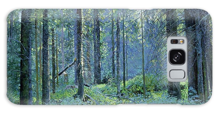 Balaam Galaxy S8 Case featuring the painting Balaam.thick Of The Forest by Simon Kozhin