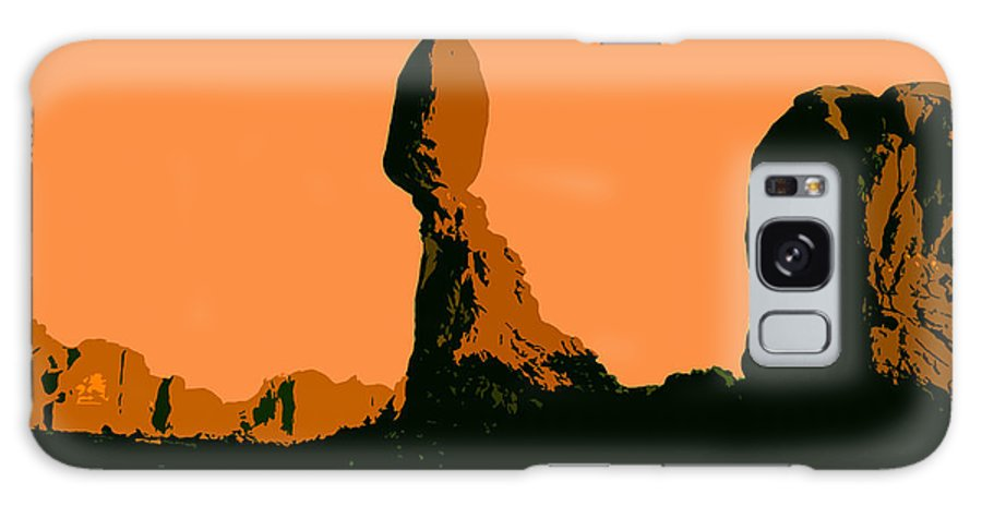 Balance Rock Galaxy S8 Case featuring the painting Balance Rock by David Lee Thompson