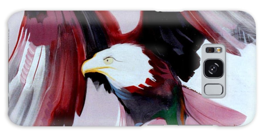 Birds Galaxy S8 Case featuring the painting Bald-e by Marlene Burns