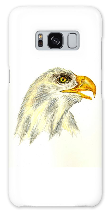 Bird Galaxy S8 Case featuring the painting Bald Eagle by Michael Vigliotti