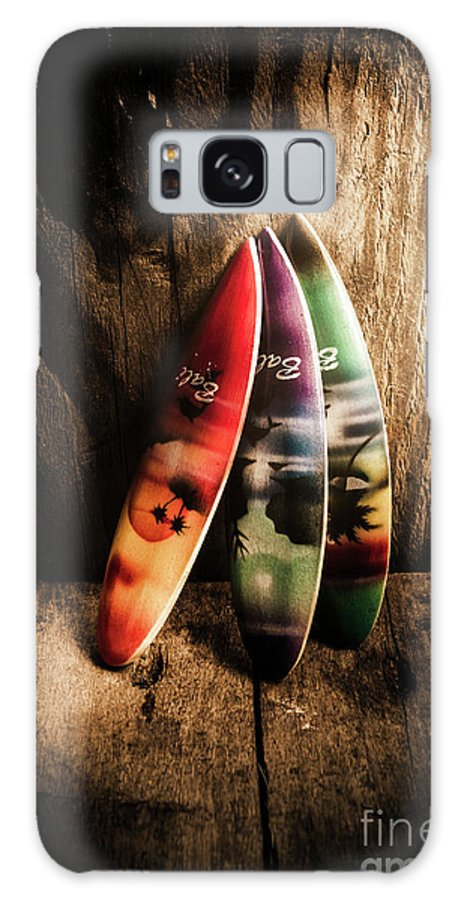 Surfboard Galaxy S8 Case featuring the photograph Bali Beach Surf Holiday Scene by Jorgo Photography - Wall Art Gallery