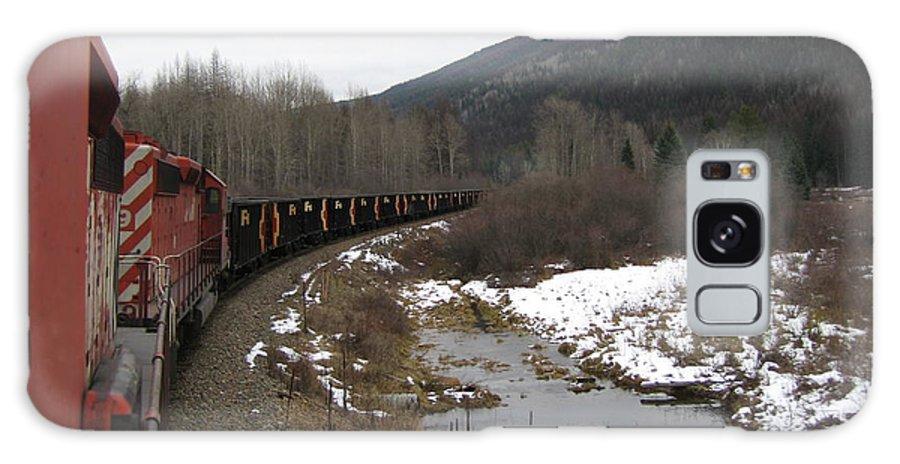 Photograph Train Mountain Snow Winter Tree Nature Galaxy S8 Case featuring the photograph Ballast Train by Seon-Jeong Kim