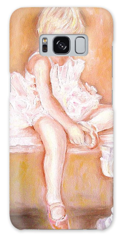 Ballerina Galaxy S8 Case featuring the painting Ballerina by Carole Spandau