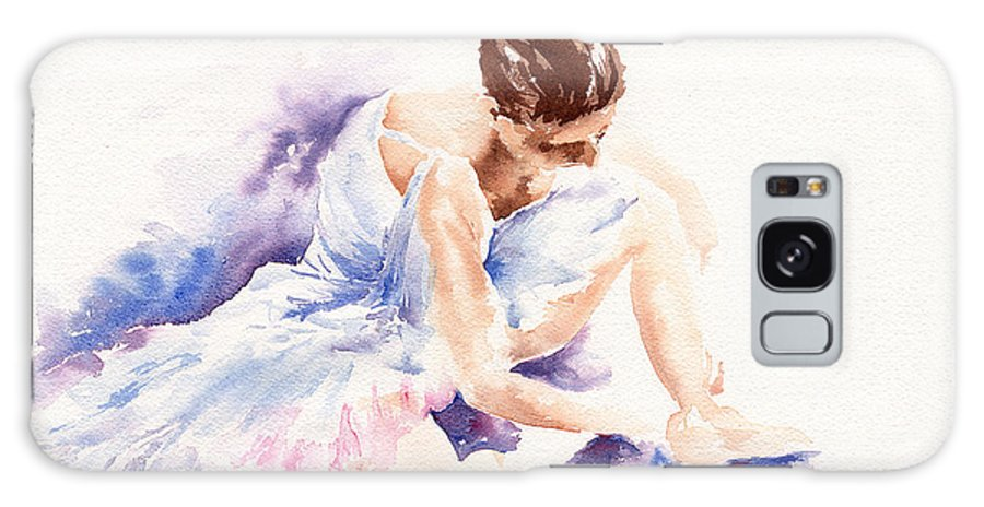 Ballerina Galaxy S8 Case featuring the painting Ballerina by Stephie Butler