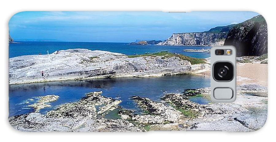 Background People Galaxy S8 Case featuring the photograph Ballintoy Harbour, Co Antrim, Ireland by The Irish Image Collection