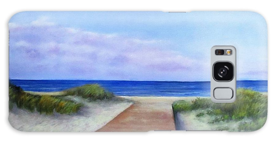 Beach Galaxy Case featuring the painting Baltic beach by Natalja Picugina