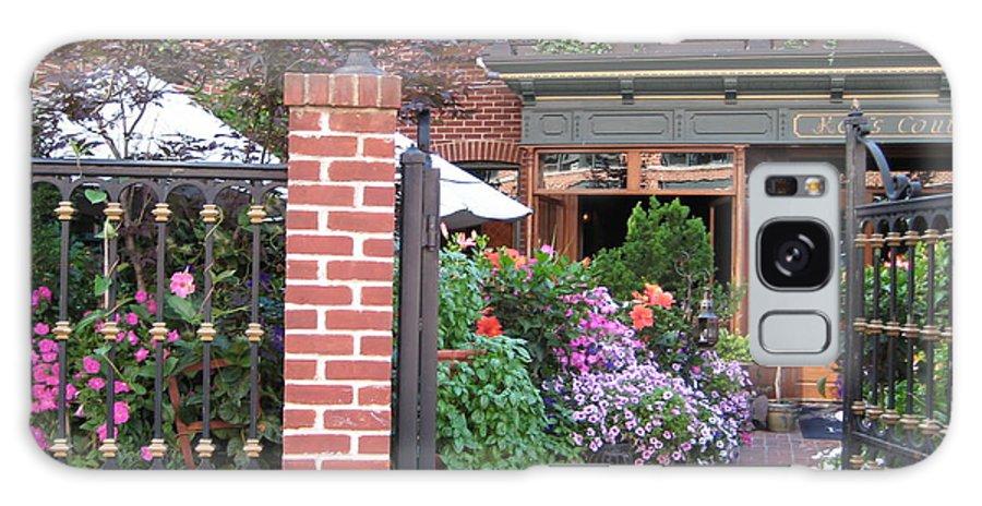 Courtyard Galaxy S8 Case featuring the photograph Baltimore Cafe     By Jean Carton by Jerrold Carton