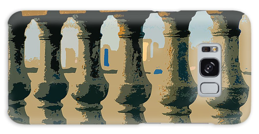 Balustrade Galaxy S8 Case featuring the painting Balustrade by David Lee Thompson