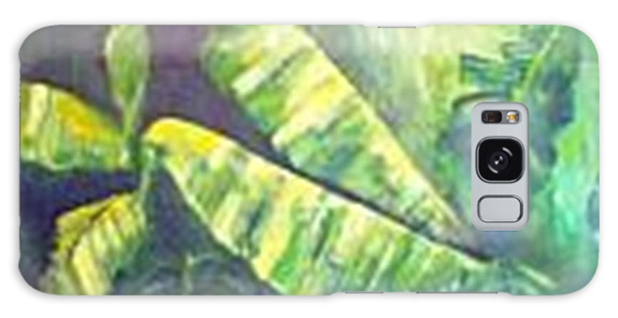 Banana Leaf Galaxy S8 Case featuring the painting Banan Leaf by Carol P Kingsley