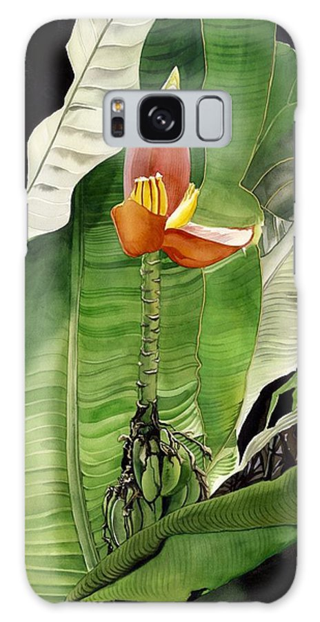 Flower Galaxy Case featuring the painting Banana Blossom by Alfred Ng