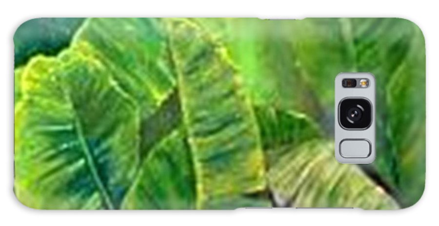 Galaxy S8 Case featuring the painting Banana Leaves by Carol P Kingsley