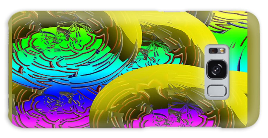 Banana Galaxy S8 Case featuring the digital art Banana's In Ice Water by XERXEESE Color Schemes