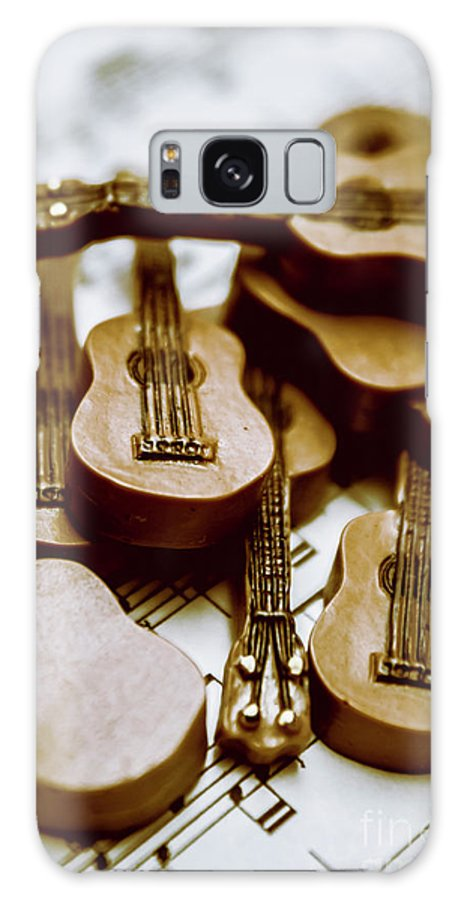 Music Galaxy Case featuring the photograph Band Of Live Acoustic Guitars by Jorgo Photography - Wall Art Gallery