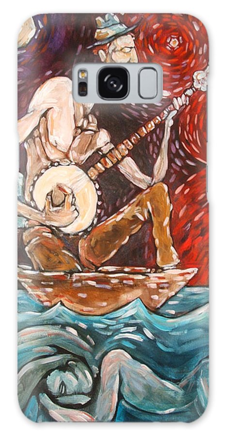 Banjo Galaxy Case featuring the painting Banjo Sailor by Chad Elliott