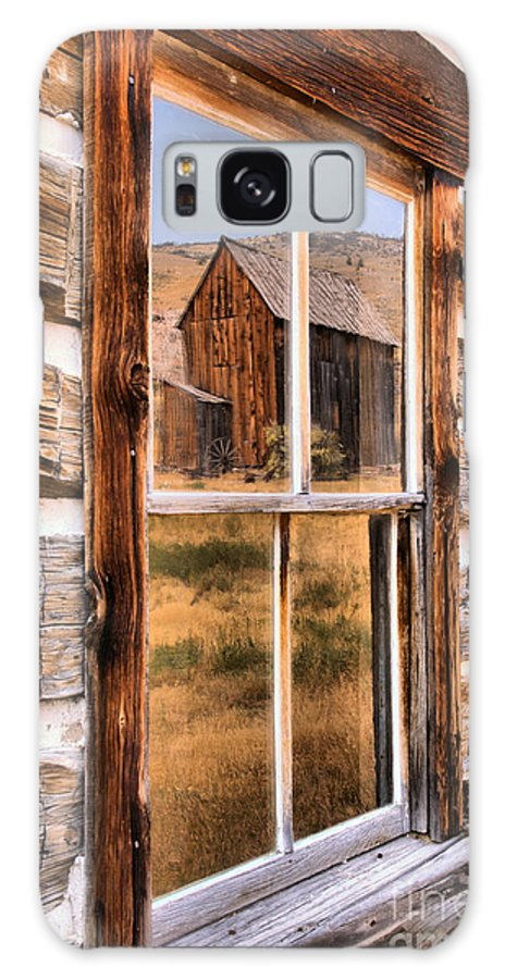 Bannack Galaxy S8 Case featuring the photograph Bannack Reflection In The Past by Adam Jewell
