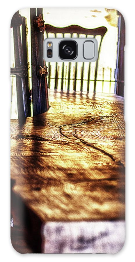 Antique Wood Table Galaxy S8 Case featuring the photograph Banquet Table by Ellen Berrahmoun
