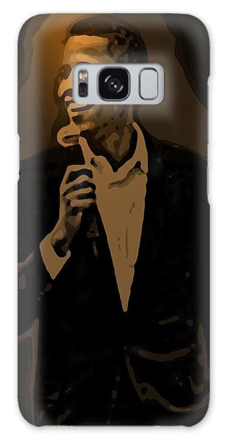 Barack Galaxy Case featuring the digital art Barack Obama by Helmut Rottler