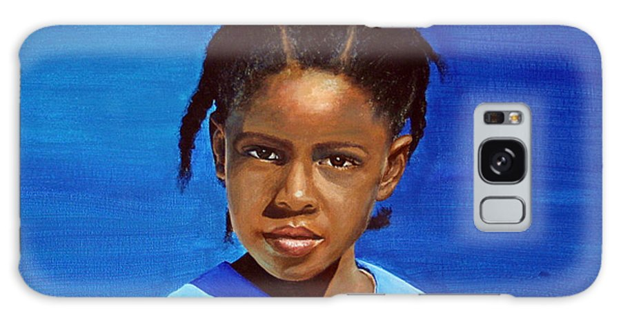 Portrait Galaxy S8 Case featuring the painting Barbuda School Girl by Fiona Jack