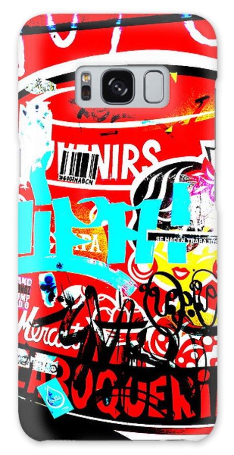 Graffiti Galaxy S8 Case featuring the photograph Barcelona Street Graffiti by Funkpix Photo Hunter