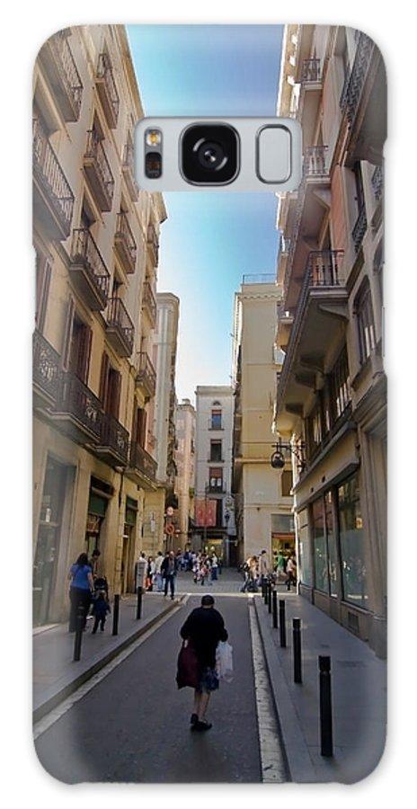 Barcelona Galaxy Case featuring the photograph Barcelona Street Scene by Sven Brogren