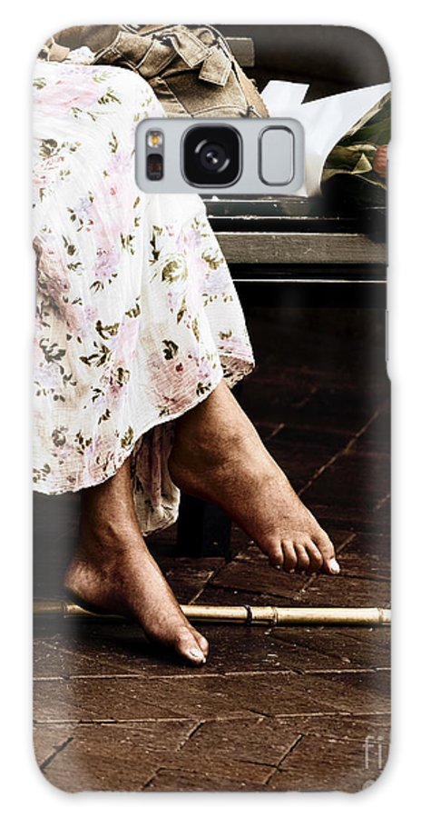 Barefeet Feet Barefoot Tulips Galaxy S8 Case featuring the photograph Barefoot And Tulips by Sheila Smart Fine Art Photography