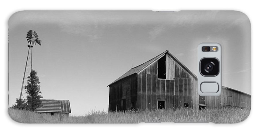 Landscape Galaxy Case featuring the photograph Barn And Windmill II by Dylan Punke
