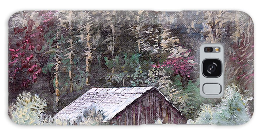 Landscape Galaxy S8 Case featuring the painting Barn At Cades Cove by Todd Blanchard