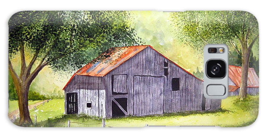 Nc Galaxy S8 Case featuring the painting Barn By The Road by Julia RIETZ