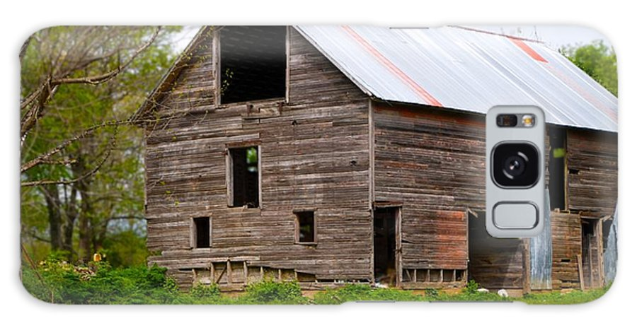 Old Barn Galaxy Case featuring the photograph Barn in 3D by Toni Berry