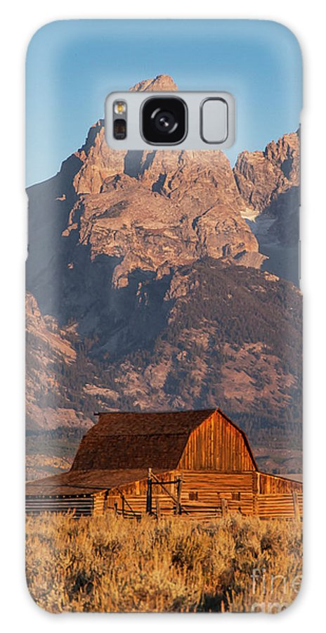 Jackson Hole Galaxy S8 Case featuring the photograph Barn In The Tetons One by Bob Phillips