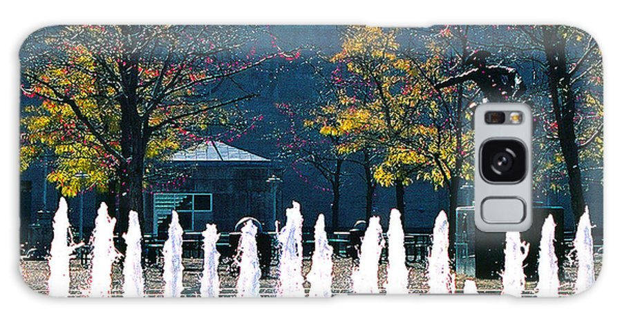 Landscape Galaxy Case featuring the photograph Barney Allis Plaza-kansas City by Steve Karol