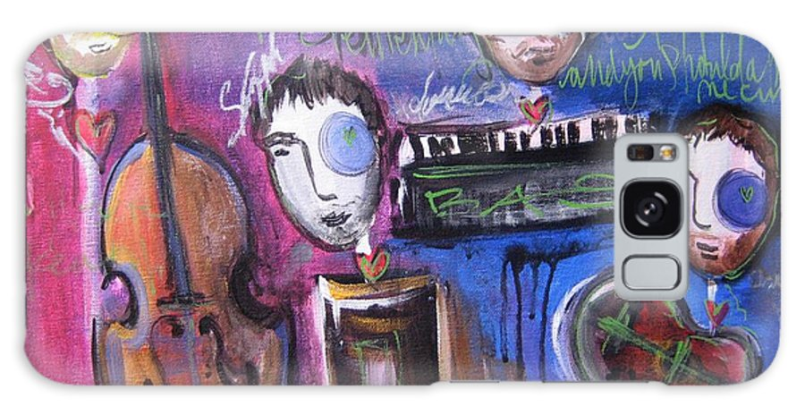Boulder Acoustic Society Galaxy S8 Case featuring the painting Bas At Meridian Elementary School by Laurie Maves ART