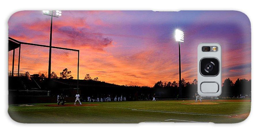 Baseball Galaxy S8 Case featuring the pyrography Baseball Sunset by Joseph Johns