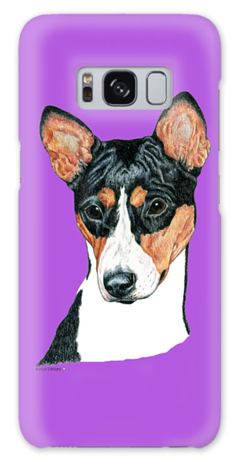 Art Galaxy Case featuring the drawing Basenji Portrait by Kathleen Sepulveda