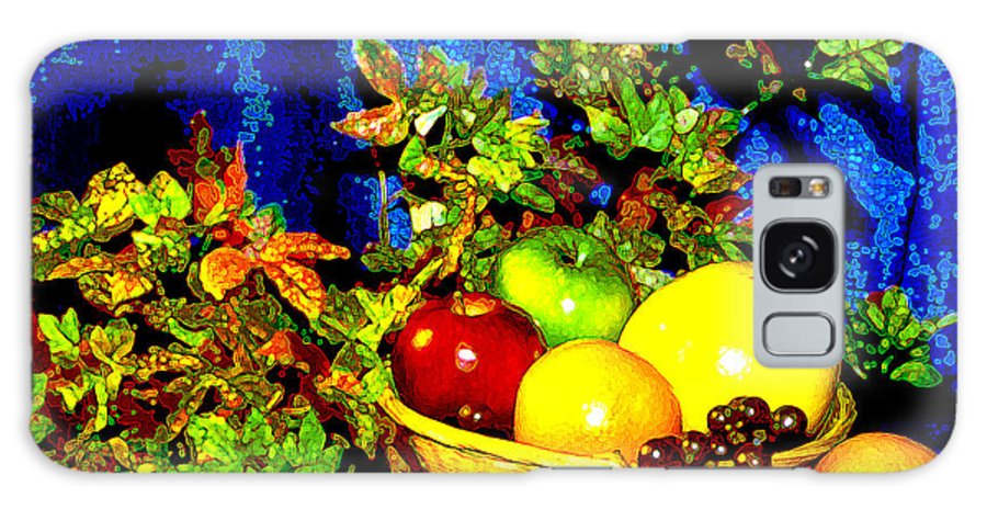 Fruit Galaxy Case featuring the photograph Basket With Fruit by Nancy Mueller