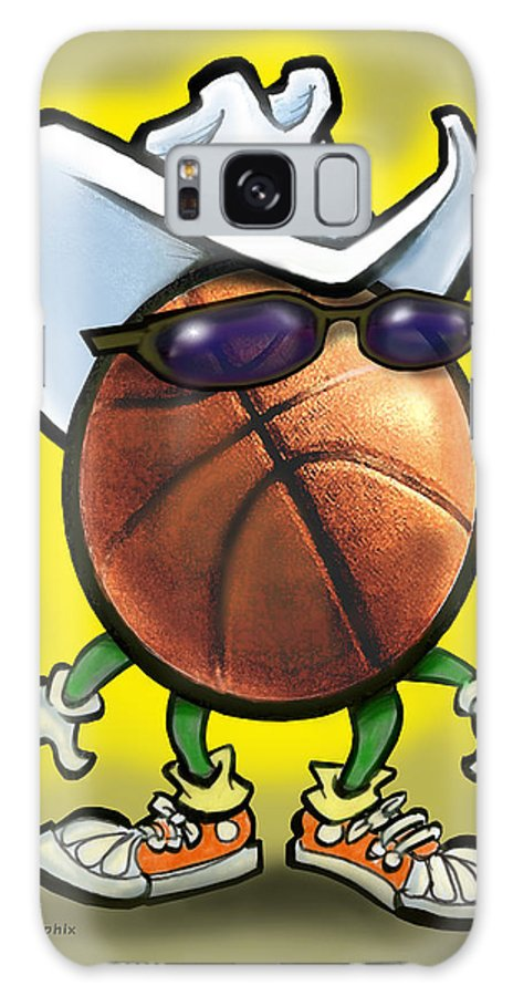 Basketball Galaxy S8 Case featuring the digital art Basketball Cowboy by Kevin Middleton
