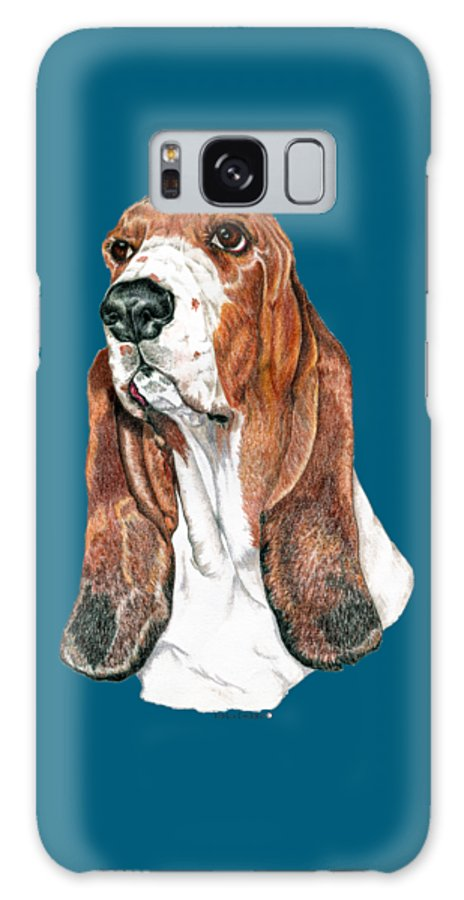 Art Galaxy Case featuring the drawing Basset Hound by Kathleen Sepulveda