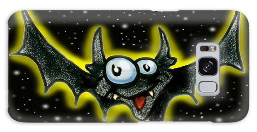 Bat Galaxy S8 Case featuring the greeting card Bat by Kevin Middleton