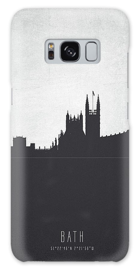 Bath Galaxy S8 Case featuring the painting Bath England Cityscape 19 by Aged Pixel