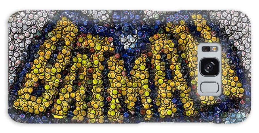 Adam West Galaxy S8 Case featuring the mixed media Batman Bottle Cap Mosaic by Paul Van Scott