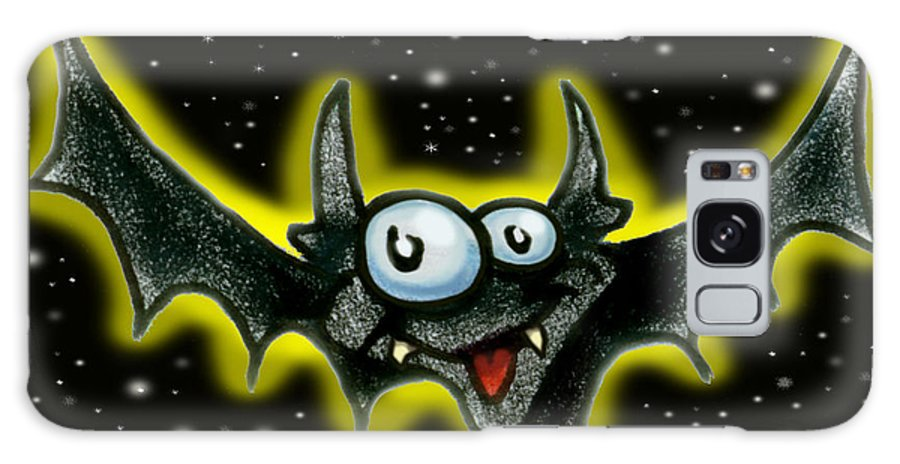 Bat Galaxy S8 Case featuring the greeting card Batty by Kevin Middleton