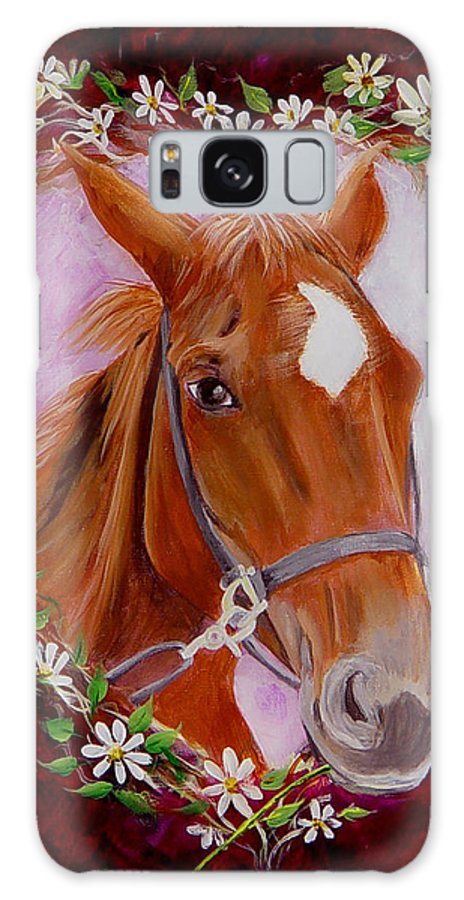 Horse Galaxy S8 Case featuring the painting Batuque by Quwatha Valentine